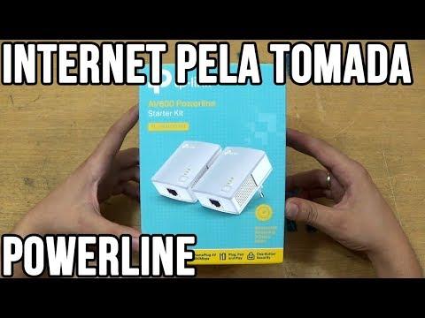 Internet pela tomada com Powerline TP-Link PA4010 kit