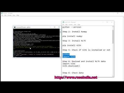 Installing NLTK on Windows 10