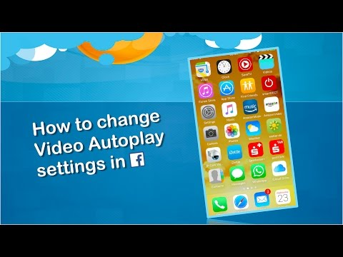 How to change Video Autoplay Settings in Facebook