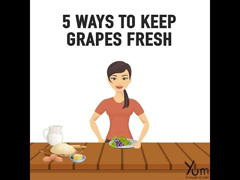 5 Ways o Keep Grapes Fresh