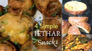 4 Simple Ifthar snacks I omelette cheese baji l Kaya Pola I Kozhi Kaal I Stuffed Bun
