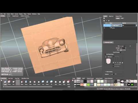 Create a vector displacement stamp in Mudbox