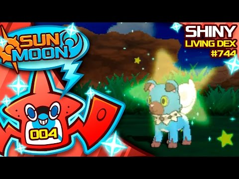 INSANE LUCK SHINY ROCKRUFF! Quest For Shiny Living Dex #744 | Pokemon Sun and Moon Shiny #4