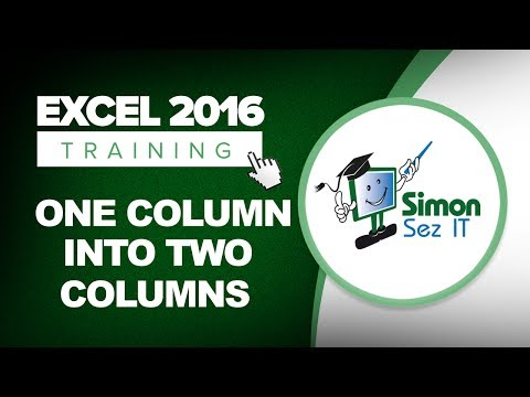How to Split Data into Multiple Columns in Excel 2016