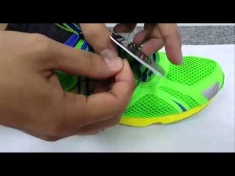 OSIM Sundown Marathon 2015: How to put on your shoe tag
