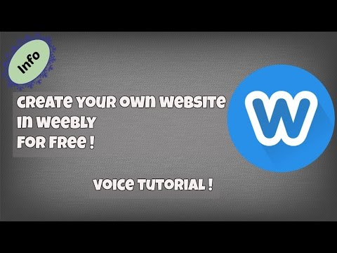 How to Create Your Own Website For FREE  [Using Weebly]