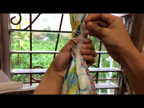 Easy life hack: Curtain tie back using Strech comb