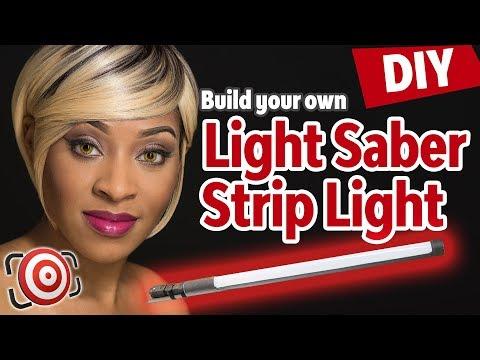 DIY Strip Light Modifier for Speedlights.  Strip Light Portrait Photography in Studio or on Location
