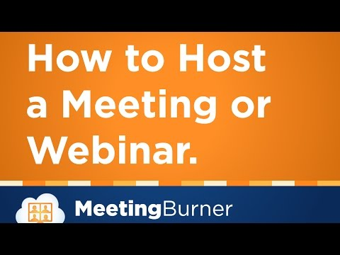 How to Host a Webinar or Meeting with MeeetingBurner
