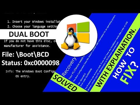 How to fix Windows failed to start. File: \Boot\BCD | Error code: 0xc0000098 | Boot Menu Corrupted?