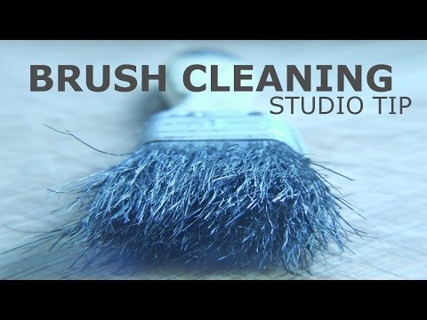 How to Clean Paint Brushes :: A Studio Tip