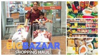 monthly grossery big bazar shopping haul   monthly budget