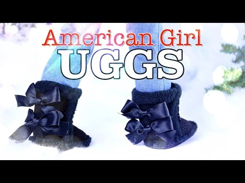 DIY - How to Make: American Girl UGG Boots - Holiday Gift Ideas - Craft - 4K