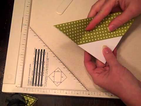How to make a Corner Bookmark with Scrapbook paper