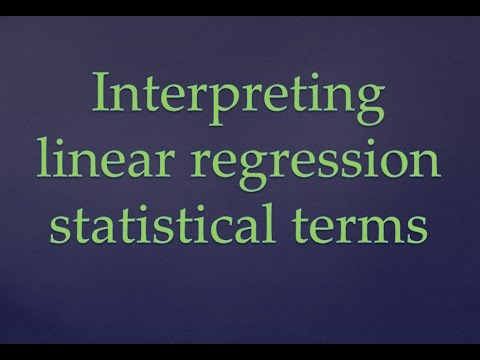 R Programming Tutorial|| Interpretation of statisitcal terms in Linear Regression