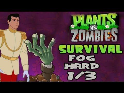Plants V. Zombies [HD] [20] [Survival] - Fog Hard 1/3
