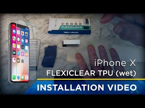 Tech Armor iPhone X Flexiclear TPU (wet application) Installation
