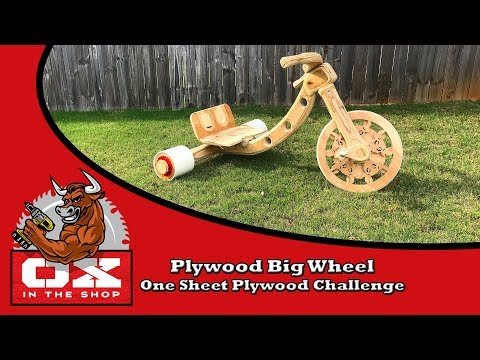 Plywood Big Wheel | One Sheet Plywood Challenge