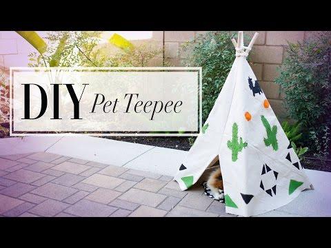 DIY Dog & Cat Summer Teepee | ANNEORSHINE
