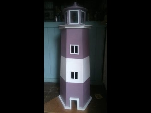 How To Build A Garden Lighthouse Out Of Pallets Step By Step
