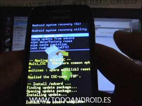 Como rootear el Samsung Galaxy Ace con android 2.3.6 Gingrebread