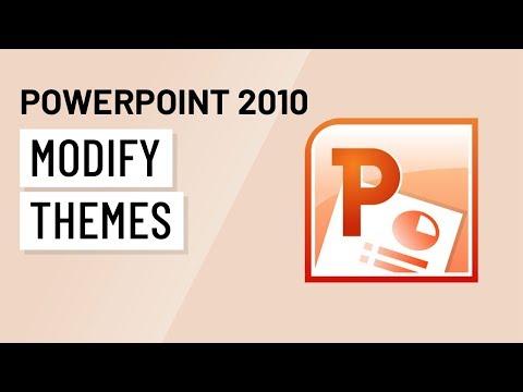 PowerPoint 2010: Modifying Themes