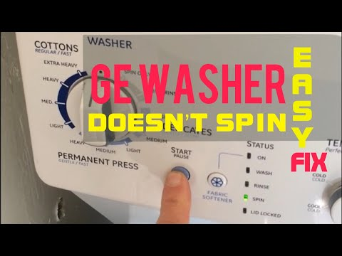 GE WASHER DOESN'T SPIN-- Easy FIX