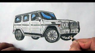 Mersedes Gelenvagen masini nece cekilir(Ehedov Elnur)Как нарисовать Mercedes-Benz G - class Гелендваген_How to draw a car Mercedes Benz G 500   Production Music courtesy of Epidemic Sound!