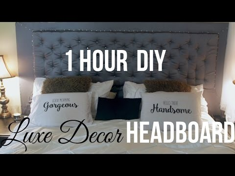 1HR DIY Luxe Decor Headboard