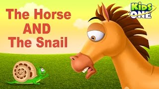 The Horse and The Snail | Funny Short Story For Kids - KidsOne