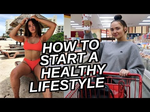 HOW TO START A HEALTHY LIFESTYLE! Grocery Haul, Vitamin Routine, Skin/Hair Care Routine & More!