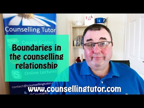 Boundaries in The Counselling Relationship