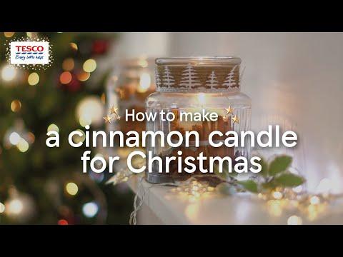 How To Make a Cinnamon Candle for Christmas | Tesco Living