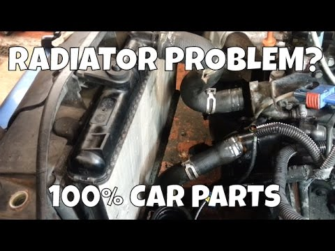 How to Change Replace Radiator Peugeot 206