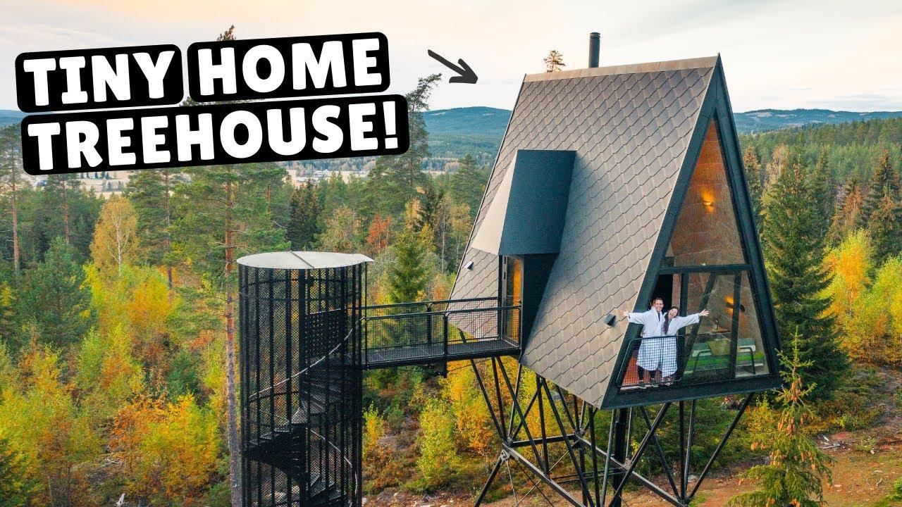 OUR NORWEGIAN TINY HOME TREEHOUSE (full tour)