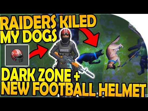 RAIDERS KILLED MY DOGS! - NEW FOOTBALL HELMET + DARK ZONE - Last Day On Earth Survival 1.7.12 Update