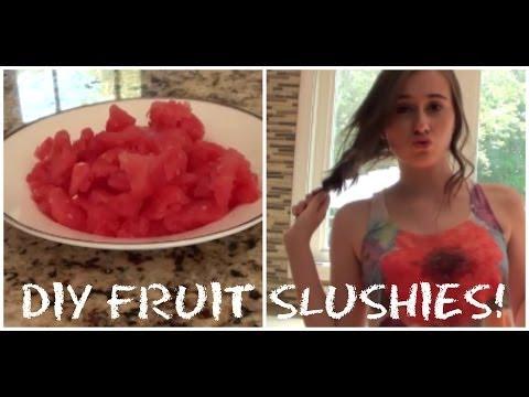 DIY Fruit Slushies!