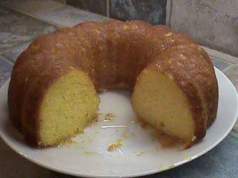 1960's Quick Lemon Supreme Cake Made With Apricot Nectar