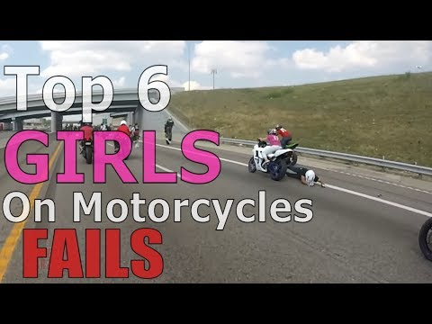 Top 6 Girl On Motorcycle FAILS 2017 Compilation Tandem Bikers Wheelie FAIL 2up Bike Stunts Videos