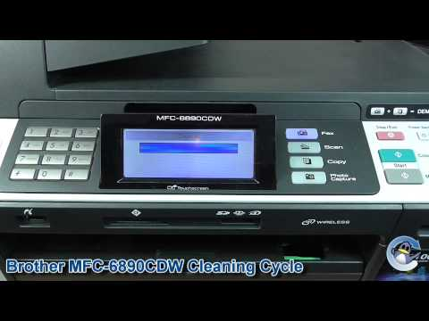 Brother MFC-6890CDW: How to do a Cleaning Cycle