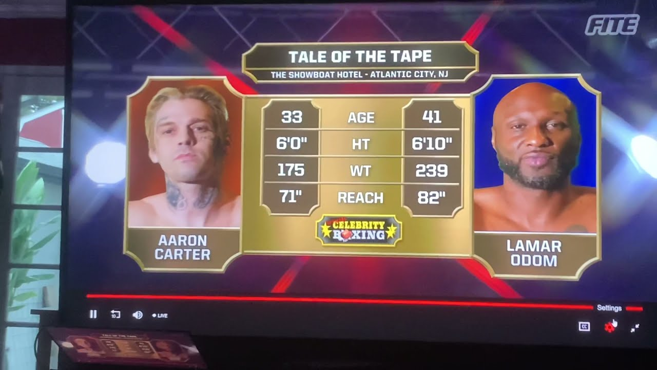 Lamar Odom vs Aaron Carter full fight - Aaron carter knocked out