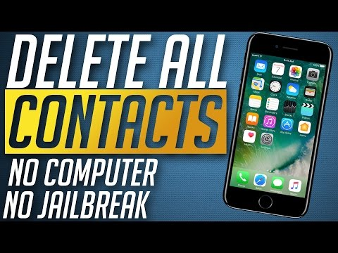 How to remove all Contacts from iPhone 7 & 7 Plus No Computer / Jailbreak