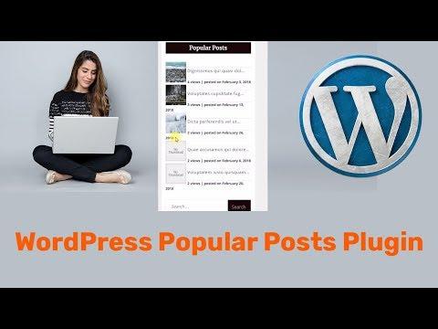 WordPress Popular Posts Plugin  Tutorial to display Posts in the sidebar
