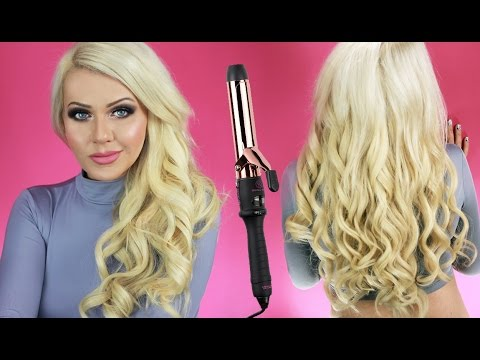 How to use the Everose Gold Clamp Curling Wand - Bombay Hair - www.bombayhair.com