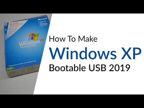 How To Make Windows XP Bootable USB 2016