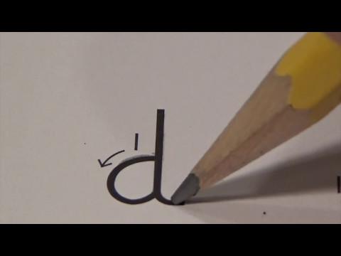 Cursive lower case  letter d with Ocean Sounds ( Handwriting, Writing, Penmanship)