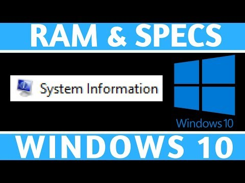 How To Check Windows 10 RAM and System Specs - Windows 10 Tutorial