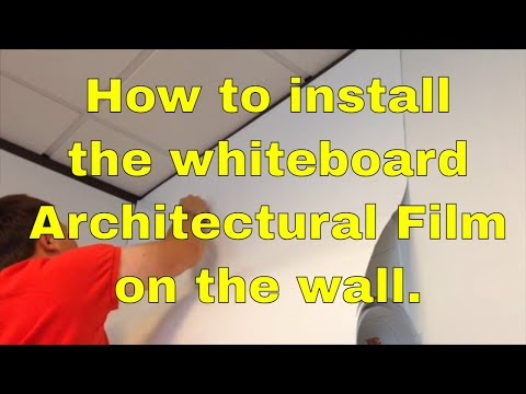Whiteboard film how to install the vinyl  Di-Noc Rmwraps.com