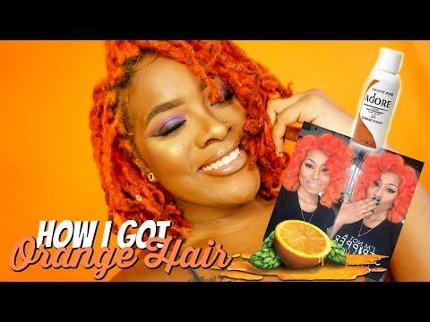 How I Dyed My Locs Orange | How To Get Orange Hair