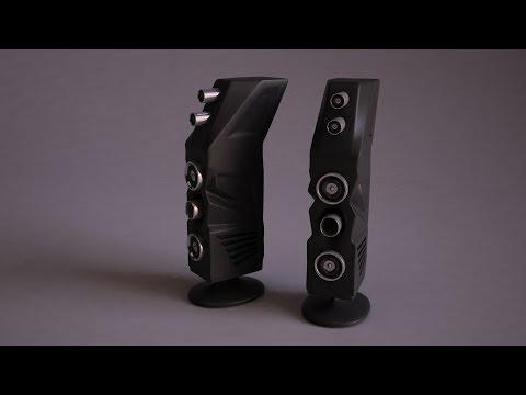 3ds max tutorial - speaker system .